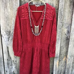 Anthropologie $138 peasant dress embroidered S